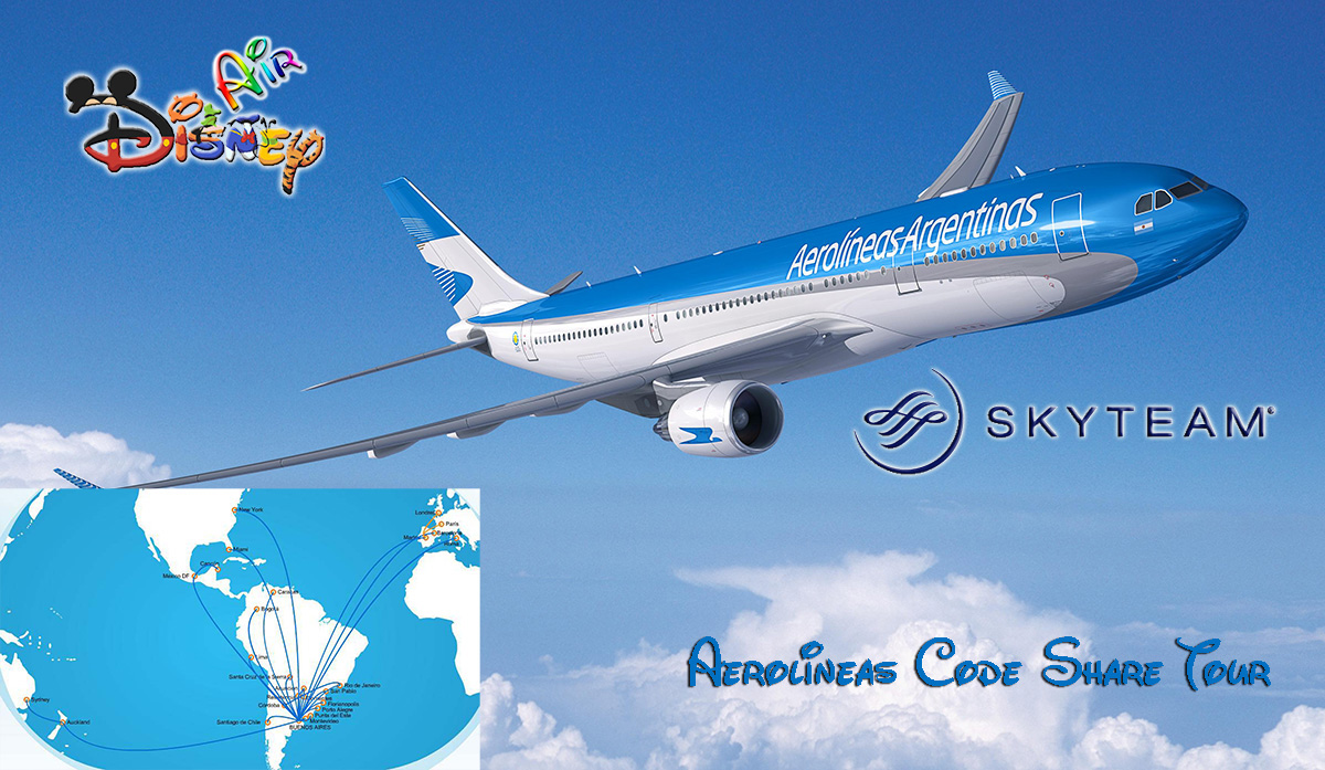Disney Air's Aerolinas Argentinas Codeshare Tour