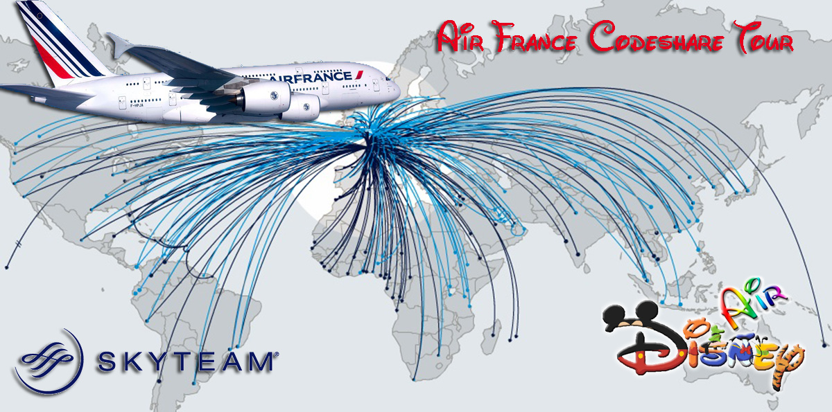Disney Air's Air France Codeshare Tour