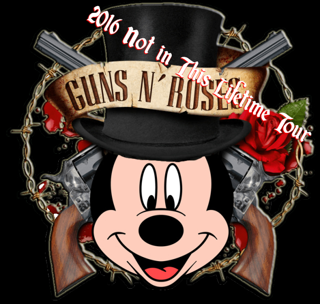 Disney Air's 2016 Guns and Roses Not In This Lifetime Tour