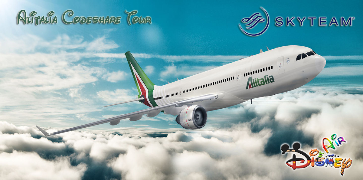 Disney Air's Alitalia Codeshare Tour