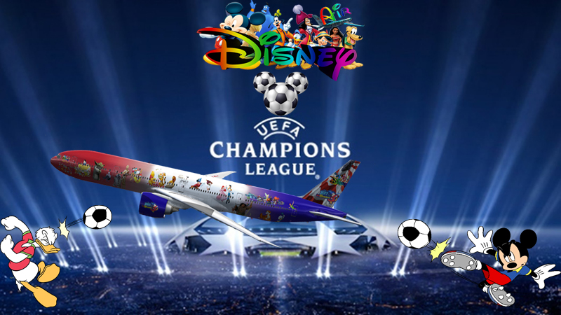 Disney Air's UEFA Champions League Tour