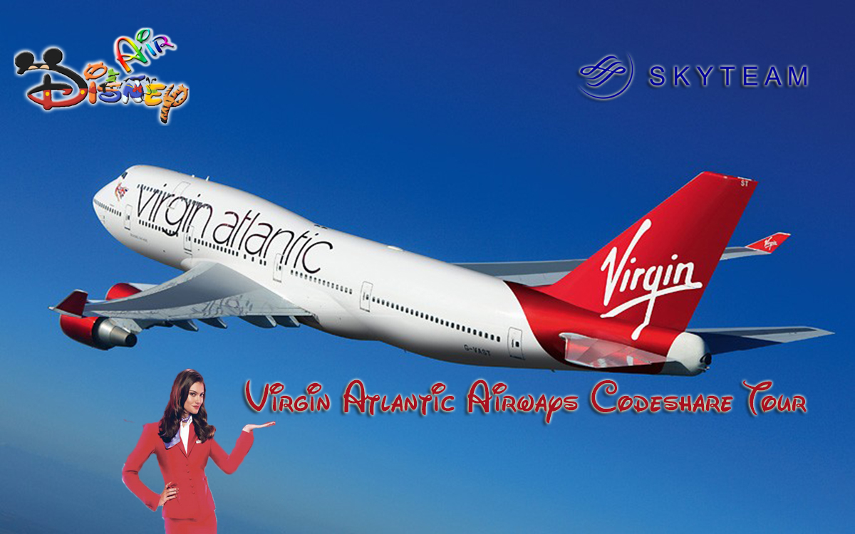 Disney Air's Virgin Atlantic Airways Long Haul Codeshare Tour